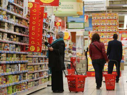 Un supermercado Alcampo en Vigo, en una imagen de archivo.