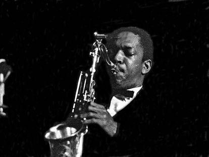 John Coltrane, en un concierto en Alemania en 1959.