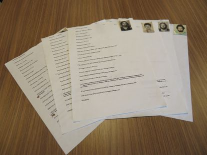 Fichas de ETA halladas en octubre de 2004 que se expondrán en el Centro Memorial de las Víctimas del Terrorismo, en Vitoria.