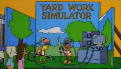 El 'Yard work simulator' de 'Los Simpsons'.