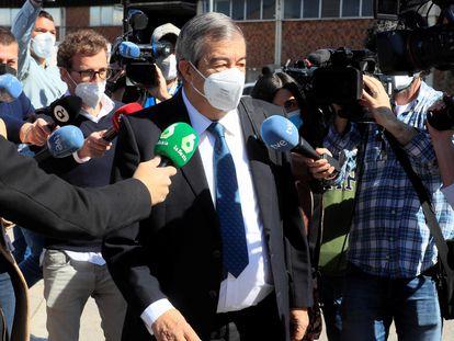 El ex secretario general del PP Francisco Álvarez-Cascos llega a la Audiencia Nacional para declarar como testigo este martes.