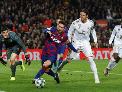 Messi, ante Ramos.