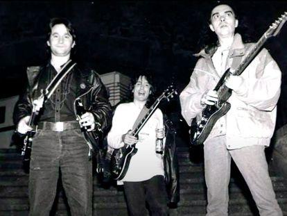 Imagen de Extremoduro cuando Carlos 'el Sucio' (a la izquierda) formaba parte de la banda.