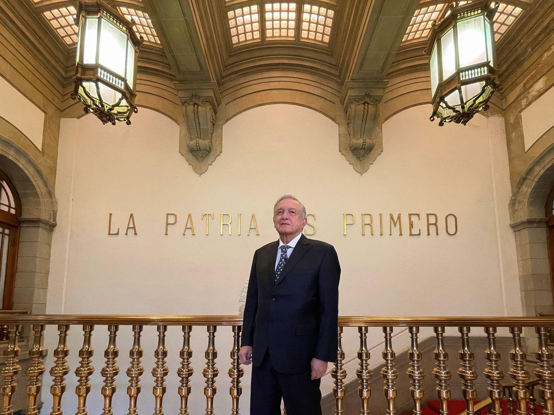 El presidente de México, Andrés Manuel López Obrador, durante un mensaje el 4 de feberero.