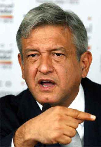 López Obrador, en una rueda de prensa el pasado viernes en Ciudad de México.