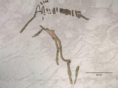 Imagen de uno de los cuatro équidos hallados en la cueva de Ekain.