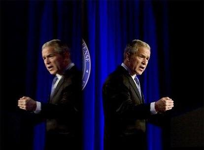 George W. Bush, durante su discurso en el Pentágono.