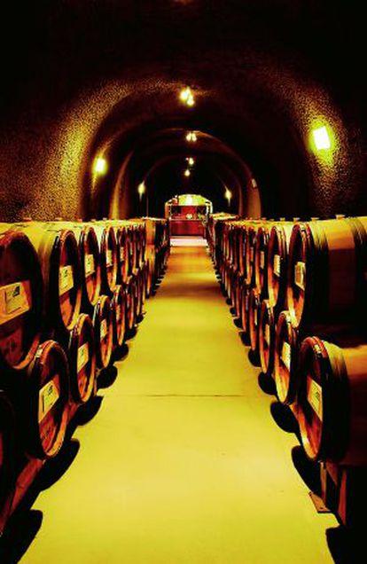 Barricas de vino en Callistoga, California.