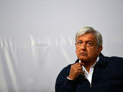 López Obrador, en un evento con víctimas de la violencia.