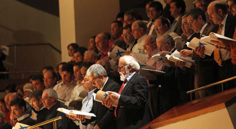 Interpretación de 'El Mesías' de Händel, durante un concierto en el Auditorio Nacional de Madrid, el pasado 1 de octubre.