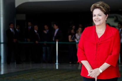 La presidenta de Brasil, Dilma Rousseff, antes de la celebración de un acto oficial en su país.
