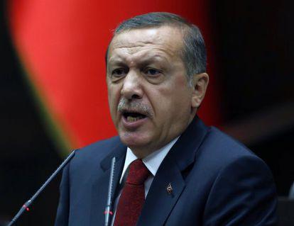 El primer ministro turco, el pasado 22 de abril en el Parlamento.