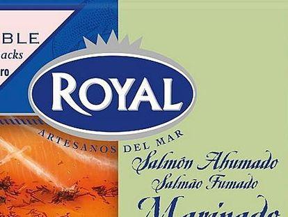 Sobres de salmón ahumado marinado con eneldo de la marca Royal.