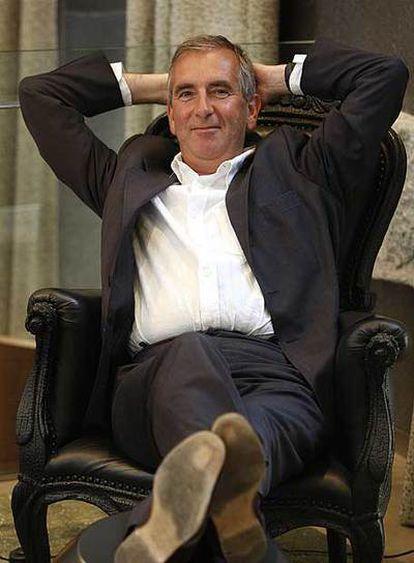 Robert Harris, en un hotel de Madrid.