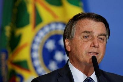 El presidente brasileño, Jair Bolsonaro, en una comparecencia la semana pasada.