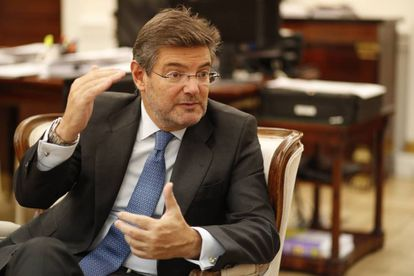 Rafael Catalá, durante la entrevista.