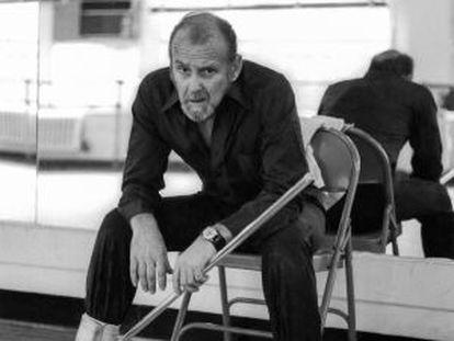 Bob Fosse, en la sala de ensayos del Broadway Arts Studio, en 1980.