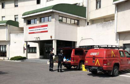 Residencia de mayores de la Comunidad de Madrid en Alcorcón, el viernes 24 de abril.