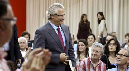 Baltasar Garzón, el pasado jueves, en la presentación de un libro sobre las víctimas del franquismo.