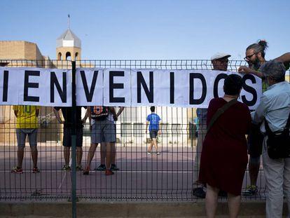 Acto celebrado este miércoles en Sevilla a favor de la integración de los menores inmigrantes.