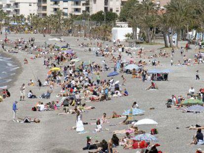 La playa de La Herradura (Almuñécar) en 2009.