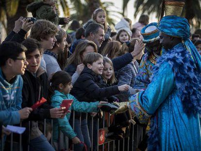 En la imagen la llegada de los reyes magos en Barcelona.