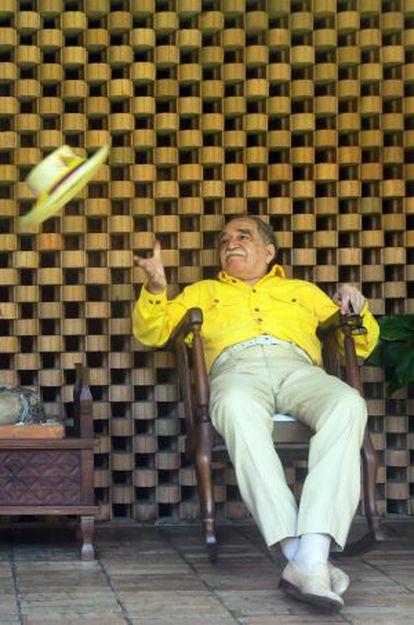 Gabriel García Márquez, en su casa de Cartagena de Indias.
