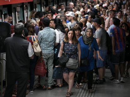 Huelga en el metro, en 2017.