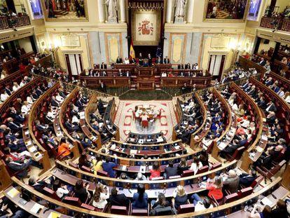 El pleno del Congreso, este martes.
