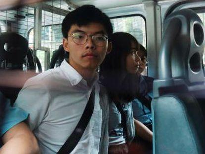 Entre los arrestados se encuentra el antiguo líder estudiantil Joshua Wong
