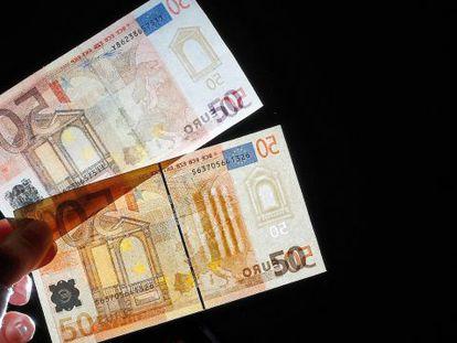 838.000 billetes de euros falsos se retiraron de la circulación en 2014.