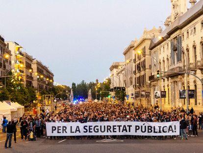 Un momento de la manifestación celebrada este sábado en Barcelona. / JOAN SÁNCHEZ