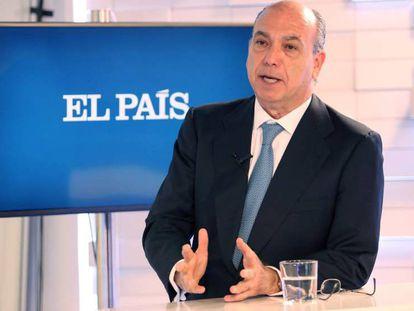 Isaac Querub, en la redacción de EL PAÍS, el día 21.