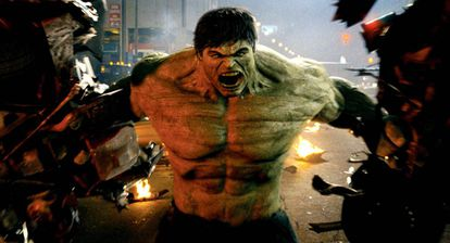 Edward Norton, in one of the many action scenes 'The Incredible Hulk'.