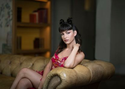 La actriz Úrsula Corberó, durante la promoción de 'Snake eyes' en el hotel Urso, en Madrid.
