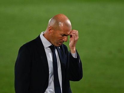 Zidane, durante el Real Madrid-Getafe.