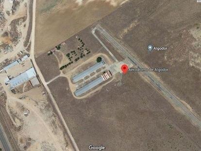 Imagen aérea del Aeródromo de Algodor, en Toledo.