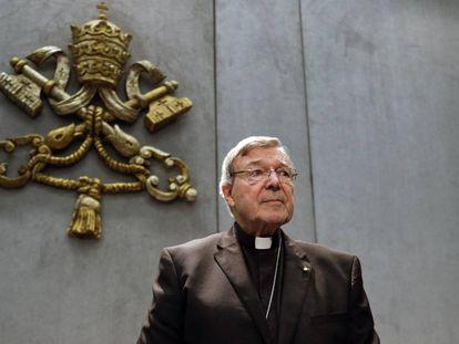El cardenal George Pell, en junio de 2017 en el Vaticano, cuando fue llamado a testificar.