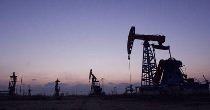 Pozos petrolíferos de Gudong, China