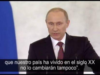 Putin firma la anexión de Crimea a Rusia