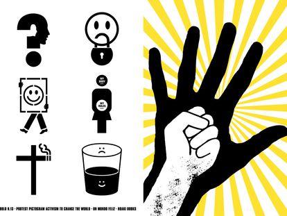 Imágenes de los pictogramas de Un Mundo Feliz.