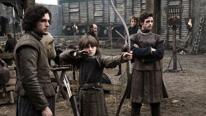 Kit Harington, Isaac Hempstead-Wright And Richard Madden, In The First Episode Of The Series.