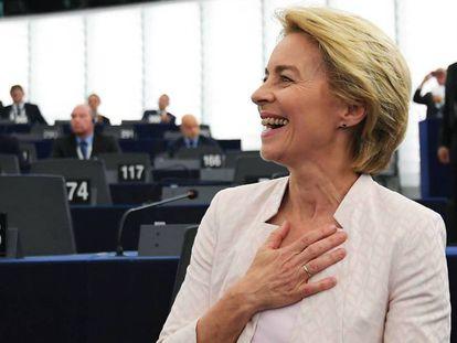 Ursula von der Leyen, en el Parlamento Europeo, en Estrasburgo. En vídeo, resumen del discurso de investidura de Von der Leyen.