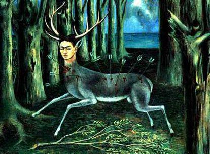Reproducción del óleo <i>La venadita,</i> de Frida Kahlo.