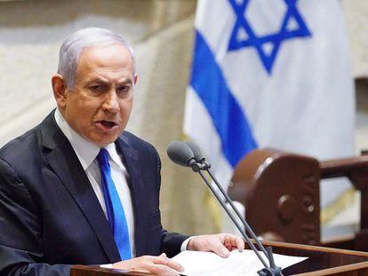 El primer ministro israelí, Benjamín Netanyahu, el día 17 en el Parlamento.