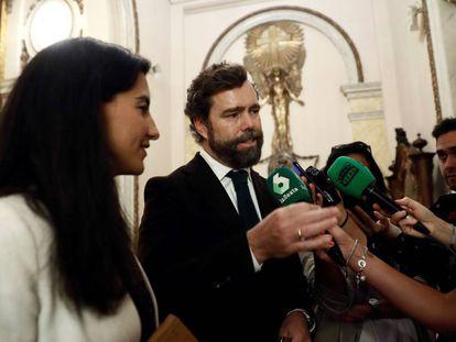 Los dirigentes de Vox Rocío Monasterio e Iván Espinosa de los Monteros.