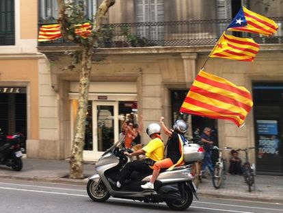 Manifestantes en Barcelona en la Diada de 2012.
