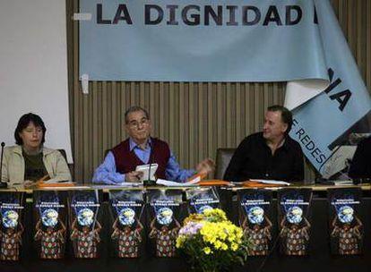 Dirigentes de Redes Cristianas, durante su asamblea constituyente, celebrada en Madrid.