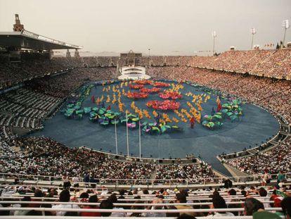 Ceremonia de inauguración de los Juegos Olímpicos de Barcelona en 1992.
