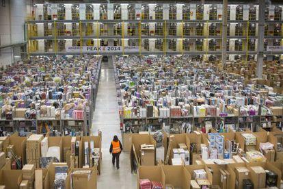 La planta logística de Amazon en San fernando de Henares (Madrid)